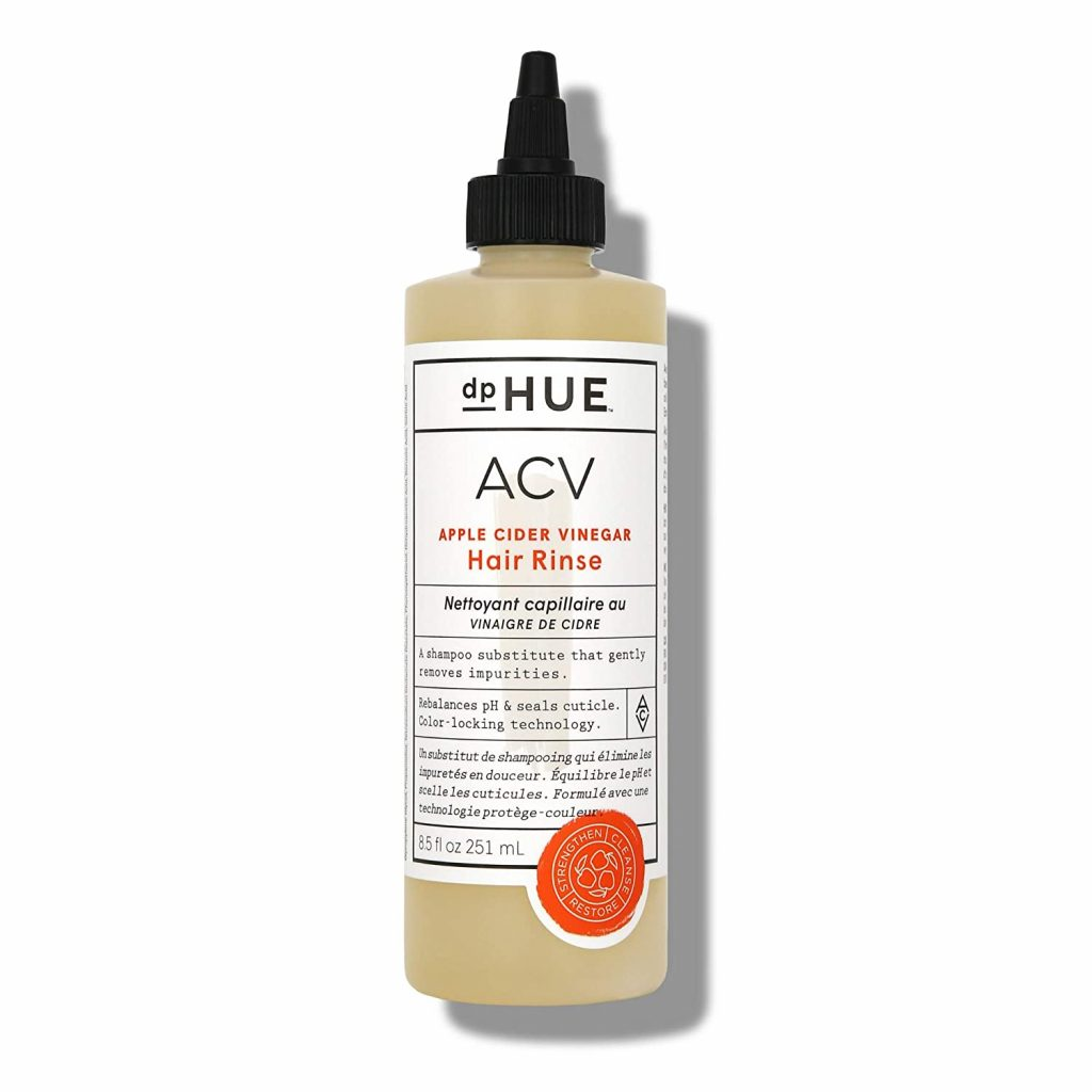 the best non-toxic products for curly hair include this product: ACV rinse.
